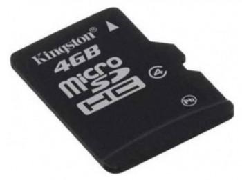 Карта памяти microSDHC KINGSTON 4Гб