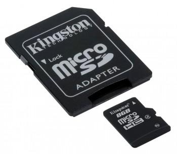 Карта памяти microSDHC KINGSTON 8Гб