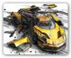 Коврик для мыши PCPET MP-GM02Gamer Yellow car